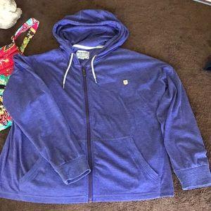 NWOT woman's Burton lightweight zip-up hoodie